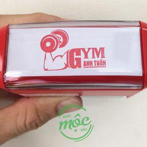 con dấu logo phòng gym